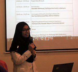 Khairdah Mahmood during a half day workshop for NGOs