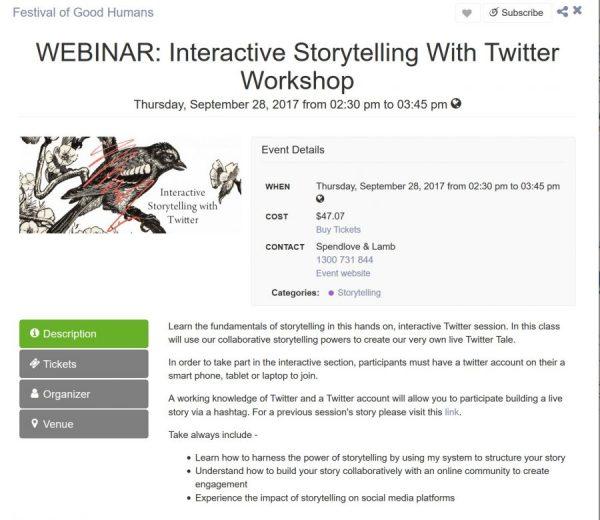 Twitter storytelling