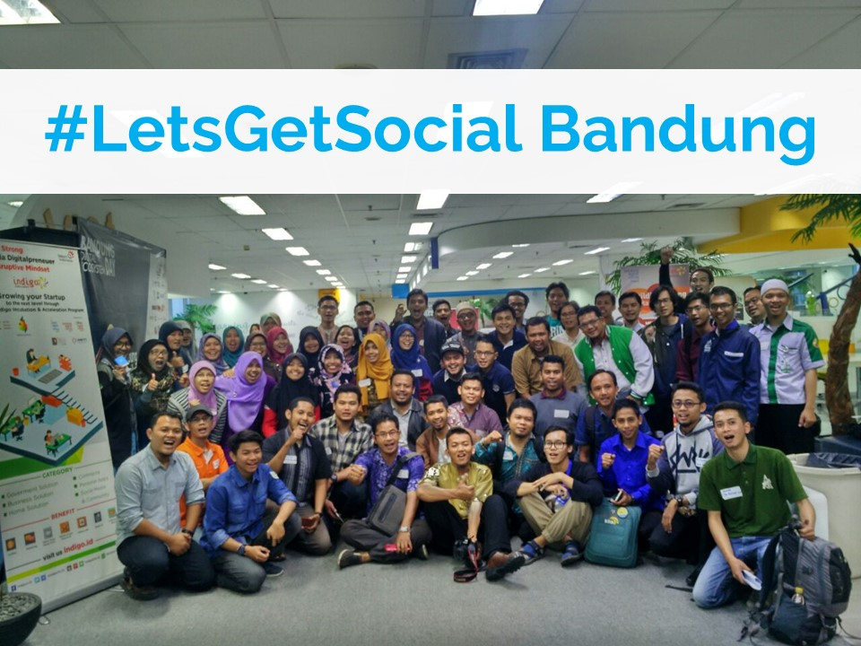 148 participants during Bandung's #LetsGetSocial session